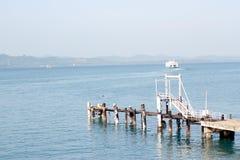 泰国的渡船码头 库存图片