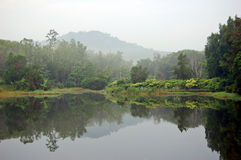 泰国的湖 库存照片