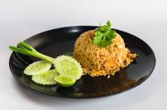 泰国的炒饭海鲜 库存照片