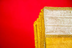 泰国的织品 免版税库存照片
