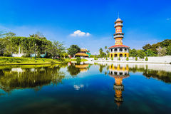泰国的老宫殿 库存图片