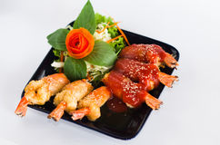 泰国的虾红色调味汁 库存照片