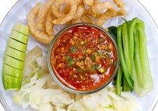 泰国的辣味番茄酱 图库摄影