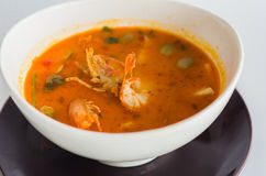 泰国的辣大虾汤 图库摄影