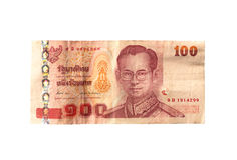泰国的钞票 免版税库存图片