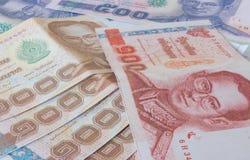 泰国的钞票 免版税图库摄影