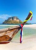 从泰国的长尾巴小船 图库摄影