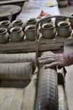 泰国的陶器 免版税库存照片