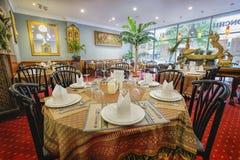泰国的餐馆 库存照片