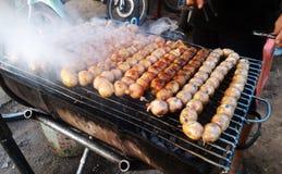 泰国的香肠 库存图片