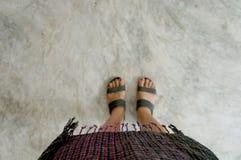 泰国的织品 库存照片