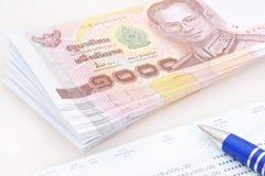 泰国的货币 库存照片