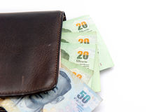 泰国的货币 图库摄影