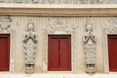 泰国的结构 泰国寺庙的装饰在chiangmai的 免版税库存图片