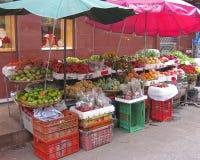 泰国的水果摊 免版税库存照片