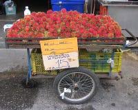 泰国的水果摊 库存照片