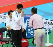 泰国的崔年轻Seok主教练 免版税库存图片