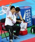 泰国的崔年轻Seok主教练 图库摄影