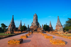 泰国的Ayudhaya古庙 库存照片