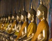 泰国的buddhas 免版税库存照片