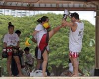 泰国的Kickboxing 库存照片