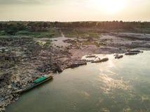 泰国的Samphan bok (3000 bok)大峡谷鸟瞰图  免版税库存照片