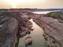 泰国的Samphan bok (3000 bok)大峡谷鸟瞰图  库存照片
