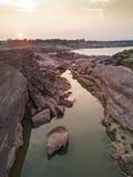 泰国的Samphan bok (3000 bok)大峡谷鸟瞰图  库存图片