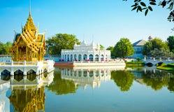 泰国皇家轰隆痛苦王宫,阿尤特拉利夫雷斯 免版税库存图片