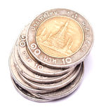泰国硬币金钱 库存照片