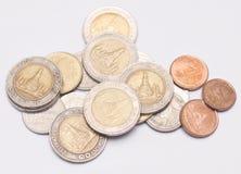 泰国硬币金钱 免版税图库摄影