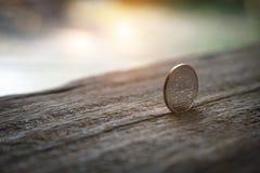 泰国硬币5泰铢 库存照片