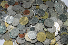 泰国硬币 免版税图库摄影