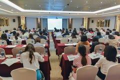 泰国社会的年会生物工艺学的 免版税库存照片