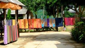 泰国种族传统织品样式在越南 库存照片