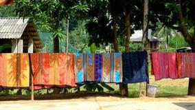 泰国种族传统织品样式在越南 库存图片