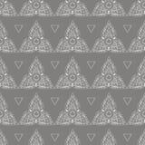 泰国种族样式三角花饰无缝的样式 向量例证