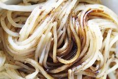 泰国稀薄的米线用黑酱油 免版税库存图片