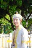 泰国第36朵男孩chiangmai节日的花 免版税库存照片