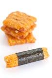 泰国米薄脆饼干 图库摄影