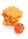 泰国米薄脆饼干 免版税库存照片