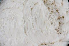 泰国米细面条,通常吃与用咖哩粉调制 免版税库存照片