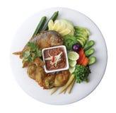 泰国精选菜单的顶视图 免版税库存图片