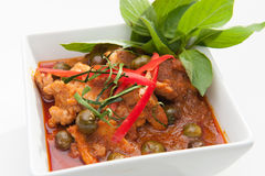 泰国红色咖喱 库存照片
