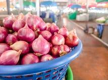 泰国红洋葱沙拉 免版税图库摄影