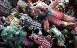 泰国纺织品玩具熊玩偶 免版税库存图片