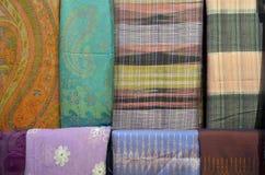泰国纺织品纹理 免版税库存照片