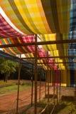 泰国织品的模式 免版税库存照片