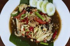 泰国绿色番木瓜沙拉,索马里兰胃泰语 库存照片
