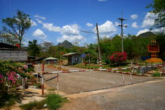 泰国缅甸的边界 库存图片